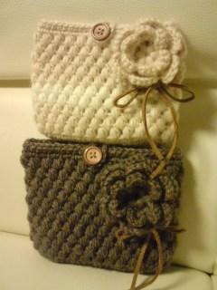 編み編みポーチ