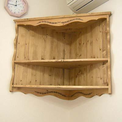 リトルパインオーダー家具:コーナーシェルフ