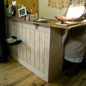 リトルパインのオーダー家具:レジカウンター