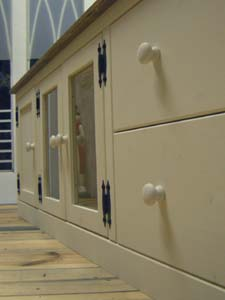 リトルパインのオーダー家具 ホワイトテレビボード
