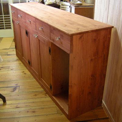 リトルパインのナチュラル家具:アンティークカウンター