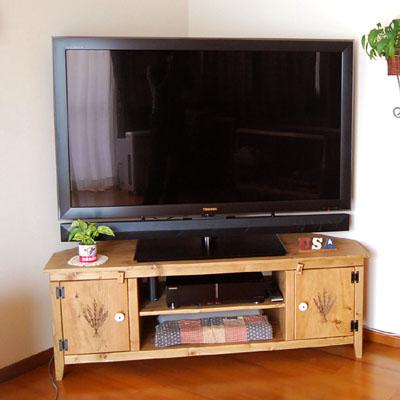 リトルパインのナチュラル家具 コーナーテレビボード