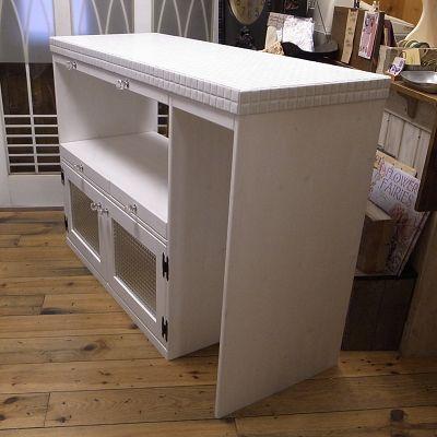 リトルパインのオーダー家具 オールタイルトップカウンター