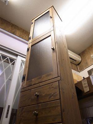 リトルパインのオーダー家具 ロングトールキャビネット