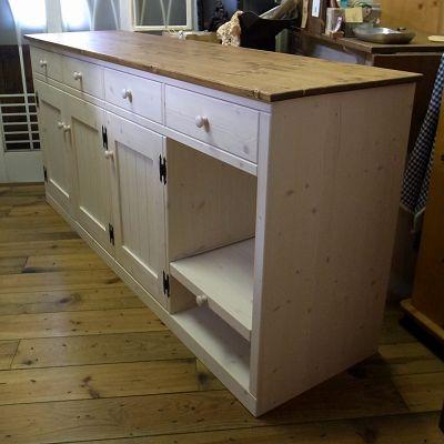 リトルパインのナチュラル家具 キッチンカウンター
