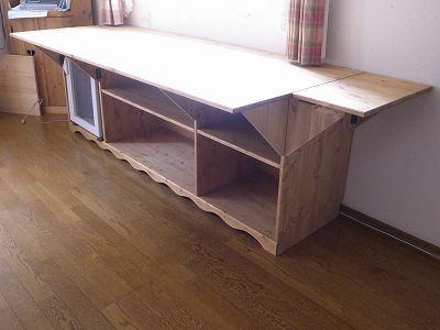 リトルパインのオーダー家具 2Dバタフライテーブル