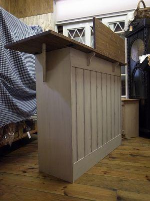 リトルパインの手作り家具 バタフライレジカウンター シャビーホワイト
