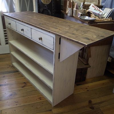 リトルパインの手作りオーダー家具 バタフライレジカウンター