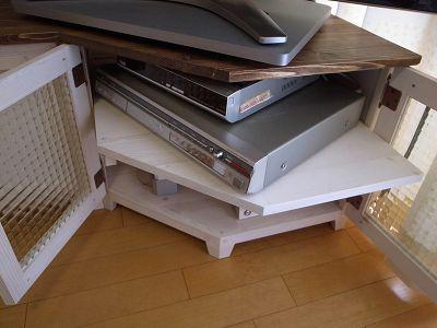 リトルパインのオーダー家具 コーナーサイドテレビボード