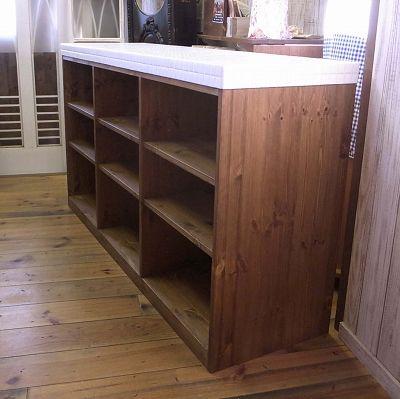 手作り家具 オールタイルトップカウンター(オープンタイプ)