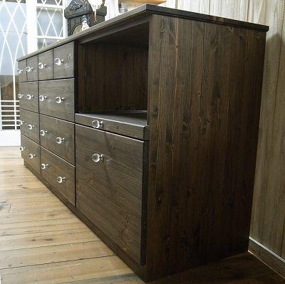 リトルパインのオーダー家具 キッチンカウンター(引き出しタイプ)