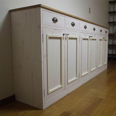 リトルパインのオーダー家具 ナチュラルリビングボード