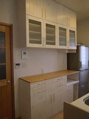 リトルパインのオーダー家具 ナチュラルキッチンボード