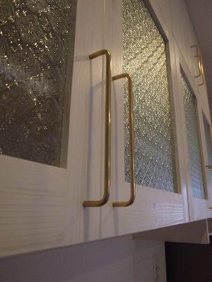 ナチュラルキッチンボードのフローラガラス