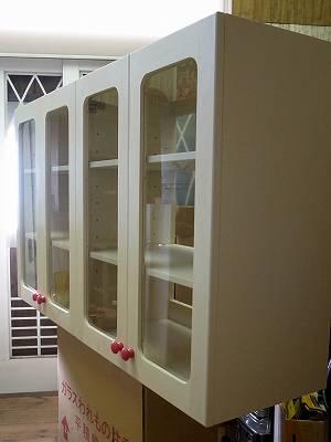オーダー家具 ハンギングガラスキャビネット