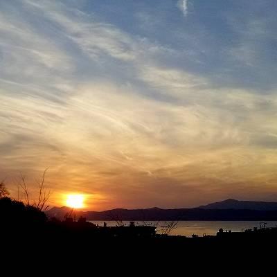 九嶺の夕日