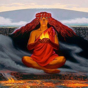 火山の女神ペレ