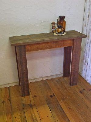 ビンテージウッドで作ったディスプレイテーブル